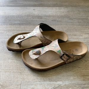 Fjord leather sandals, size 37